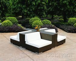 outdoor modern patio furniture modern outdoor. Modern Patio Outdoor With 4 Pieces Couch Furniture Set, And Dark Brown Finished Wicker Rattan U