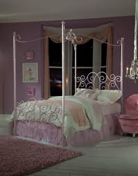 Princess Full Size Canopy Bed Light Pink Be ~ Ananthaheritage