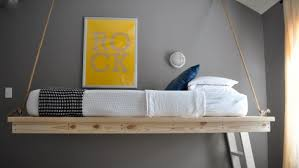 Amazing DIY Hanging Beds With DIY Bed Frame Image