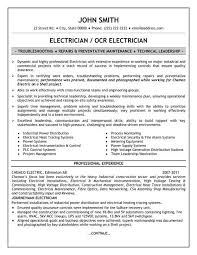 ... Sample Resumes For Electricians throughout [keyword ...