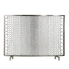 Unique fireplace screens Guard Sabrina Firescreen Nickel Interior Homescapes Unique Decorative Fireplace Screens Interior Homescapes