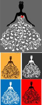 Fashion Designing File Creative Wedding Vector Wedding Silhouette Silhouette