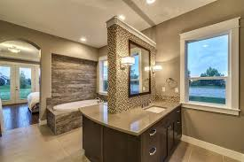 traditional master bathroom with flush amp undermount sink