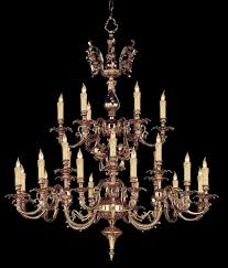 cast brass candle chandelier