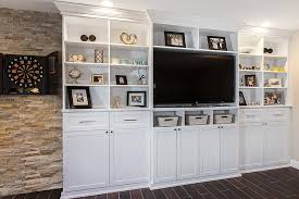 white media center. Simple Center Media Center And Entertainment Wall Unit With Crown Base  Moulding In White Throughout White Center O