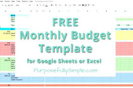Simple Monthly Budget Template Pdf Blank – Narrafy Design