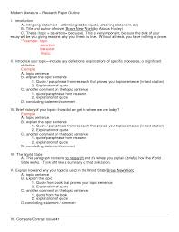 Research Paper Mla Outline Template Pictures Galwrdxg College