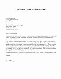 Example Thank You Letter After Medical School Interview