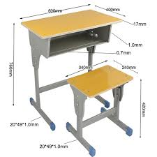 school desk and chair dimensions