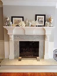 such a summery mantel with found beach ss and pottery barn details
