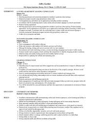 Sample Resume For Leasing Consultant Leasing Consultant Resume Samples Velvet Jobs 2