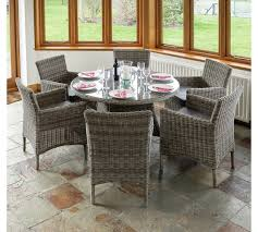 garden dining chairs. richmond rattan garden dining set with 6 chairs