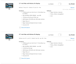 Imac Speed Comparison Chart Apple Imac 27inch 5k Retina Display I5 Vs I7
