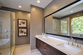 Brown And Grey Bathroom Design