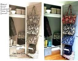 coat closet storage organization no ideas hall and hooks instead