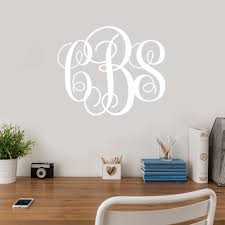 script monogram vinyl wall decal