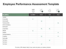 Employee Performance Assessment Template Ppt Powerpoint