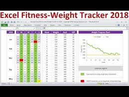 excel fitness tracker and weight loss tracker for 2018 exercise planner weight tracker spreadsheet