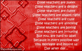 Thank You Poems For Teacher Wishesmessages Com