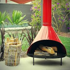 PREWAY Cone fireplace orange mid-century modern Retro 60 70s enamel ExCond  Mod