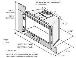 32 dvs gas fireplace insert gas fireplace insert fireplace dimensions
