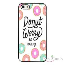 Samsung Quote Adorable Donut Worry Be Happy Life Quote Mobile Cellphone Cases Cover For