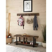 Wooden Coat Rack With Storage Alaterre Modesto Metal And Reclaimed Wood Wall Coat Hook With Bench 87