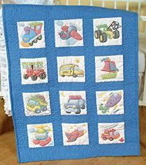 Amazon.com: Jack Dempsey Needle Art 30079 Nursery Quilt ... & Jack Dempsey Needle Art 30079 Nursery Quilt Transportation Blocks, 12 Quilt  Blocks, 9- Adamdwight.com