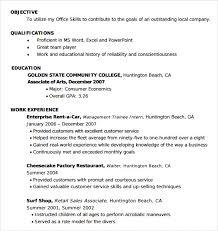 standard entry level resume samples of entry level resumes