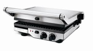 1800 watt grill with interchangeable flat plate and 2 ribbed plates