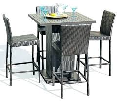 bar height outdoor table set bar height outdoor table 5 piece wicker outdoor pub table set