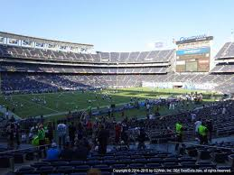 Qualcomm Stadium San Diego State Aztecs Seating Chart San Diego County Credit Union Stadium View From Plaza Level