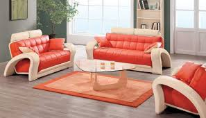 fascinating affordable living room furniture sets interior orange chair on a wooden floor and a glass table