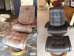 stressless leather chair re dye