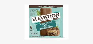 elevation chocolate mint protein bar