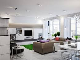 Contemporary Open Plan Living Area With Modern Sofa And Daybed Contemporary Open Plan Kitchen Living Room