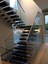 staircase railing designs with glass staircase glass railing stainless steel stairs with solid wood step