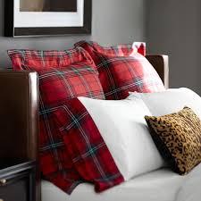 tartan bedding red williams sonoma