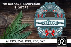 3d Christmas Welcome Decorations Svg Graphic By Febri Creative Creative Fabrica
