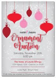 Auction Invitations Maddies Footprints Ornament Auction Invitations