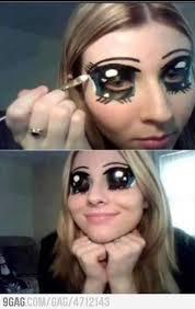 anime character makeup creepy but cool