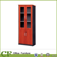 wood office cabinet. Economic Office Storage Cabinet Wood Frame Glass Door Filing Cabinets Wood Office Cabinet