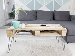 How To Make A Coffee Table With Hairpin Legs U2013 Les ProomisPallet Coffee Table With Hairpin Legs
