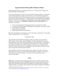 argumentative research paper an argumentative research paper