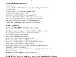 Sample Bartender Resume Amazing Bartender Resume Sample No Experience In when You Make 50