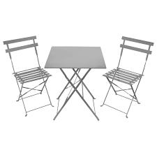 metal bistro set. 2-Seater-Bistro-Set-WithSquare-Table-Silver Metal Bistro Set