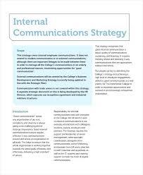 Employee Communication Plan Template Training Communication Plan
