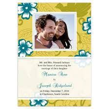 Wedding Announcement Photo Cards Hibiscus Wedding Announcement Cards Flat Cards Personalized Cards