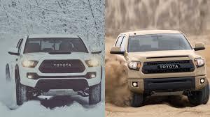 2017 Toyota Tacoma TRD PRO vs 2016 Toyota Tundra - YouTube