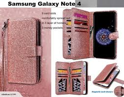 galaxy note 4 case bling triple wallet pu leather 9 cards id 3 pockets rg trade me